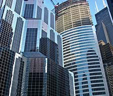 Downtown Chicago office buildings John Manning