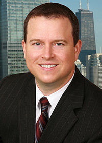 CEO corporate headshot with composited background